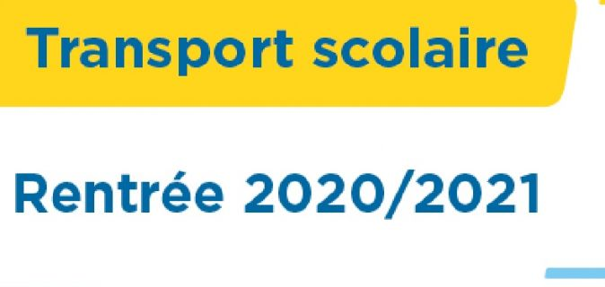 Insrciption transport scolaire 2020-2021